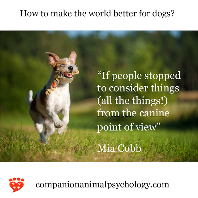 Companion Animal Psychology News October 2018: A Better World for Dogs