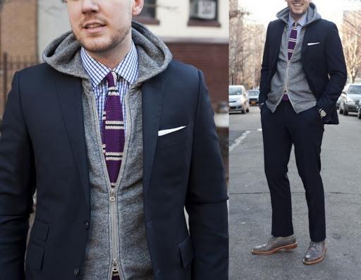 Looks masculinos com blusa com capuz