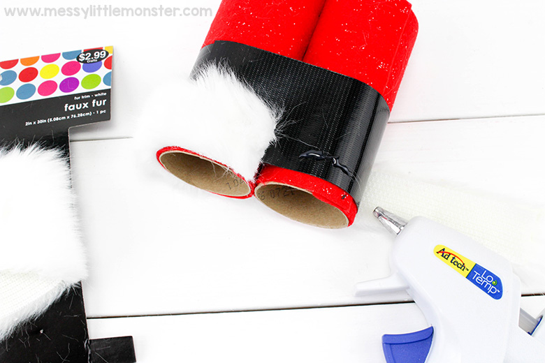 santa crafts for preschoolers and toddlers - santa binoculars
