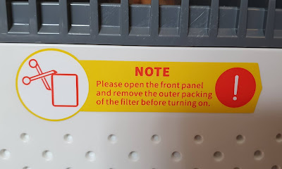 Air Purifier warning to Set up properly before use