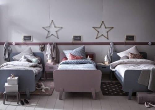 habitación para tres hermanos
