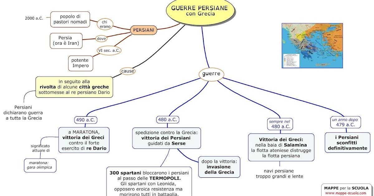 Mappe Per La Scuola Guerre Persiane Con Grecia
