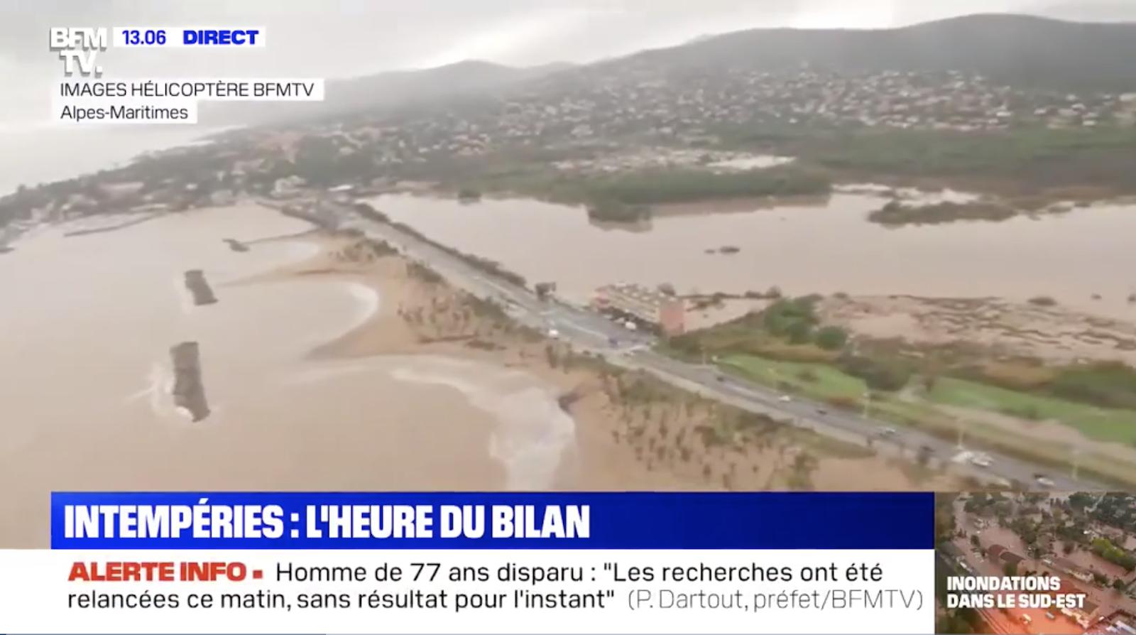 Inondations dans le Sud-Est : au moins quatre morts