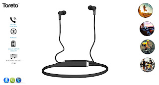 Toreto unleashes stylish, flexible, water resistant Bluetooth Earphone - TBE-804 Blare