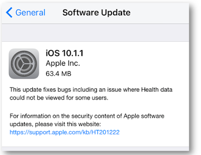 Apple has just released iOS 10.1.1 for iPhone, iPad and iPod touch with minor updates and bug fixes for Health Data