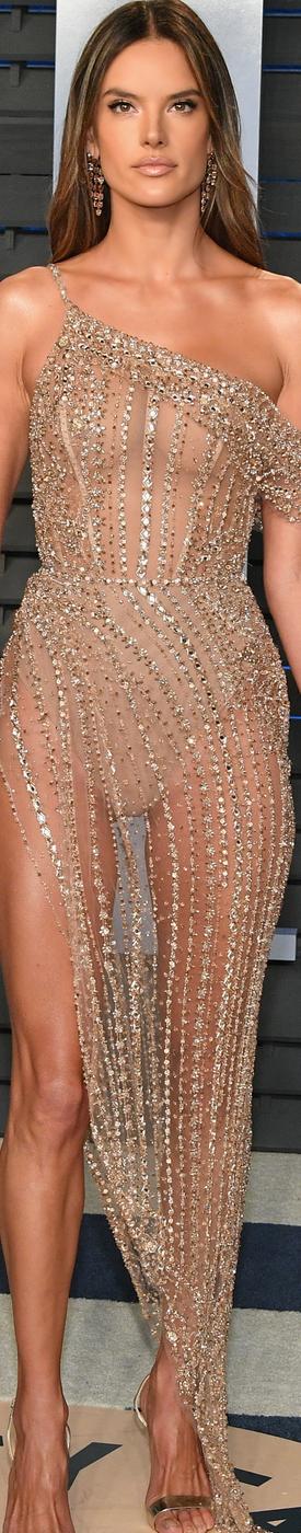 Alessandra Ambrosio 2018 Vanity Fair Oscar Party