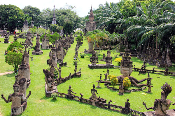 Buddha Park (Xieng Khuan Buddha Park) in Vientiane