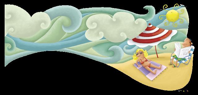 """""""ilustración-playa-ana sáez del arco-illustration-sea"""""""