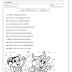 Ficha de leitura: Marchinha de Carnaval para alfabetização para imprimir e colorir