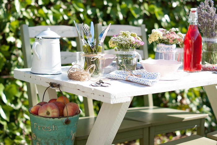 Mesa de verano inspirada en La Provenza