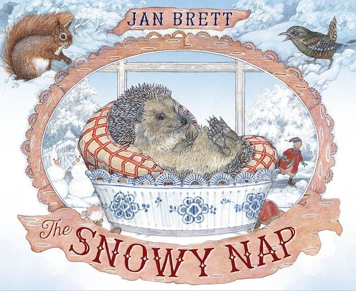 The Snowy Nap by Jan Brett. Book review with book-related activities. Don't miss this delightful wintery book about a sleepy hedgehog!