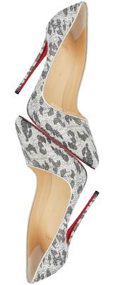 Christian Louboutin So Kate silver lurex leopard pumps #brilliantluxury