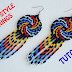 Spiral Beaded Huichol Inspired Earrings Tutorial by Miroslava