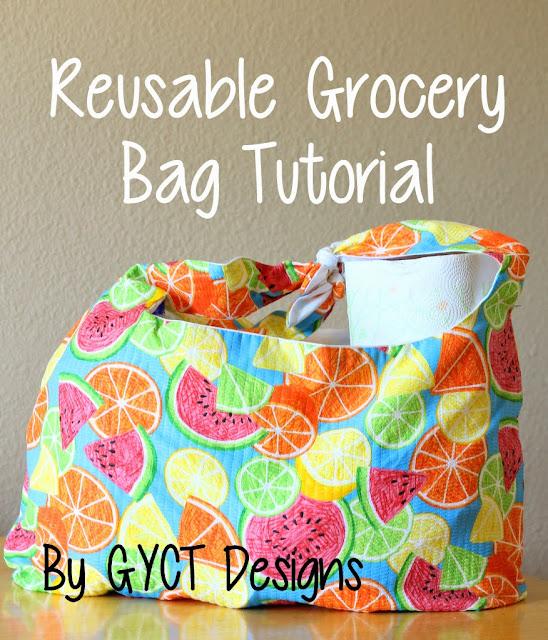 Reusable fabric grocery bag