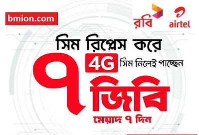 Robi 4G Sim Replacement 7GB Internet Free!  Collect/Replace 4G SIM From Customer Care!