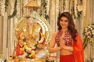 "Actress Urvashi Rautela, overjoyed with the arrival of Ganpati, said- ""Modak is one of the reasons why I am really looking forward to Ganesh Chaturthi!"" Media kesari entertainment news"