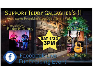 Fund raiser for Teddy Gallagher's - Jan 23, 2021