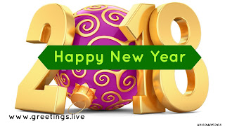 Golden 2018 New Year Picture Messages