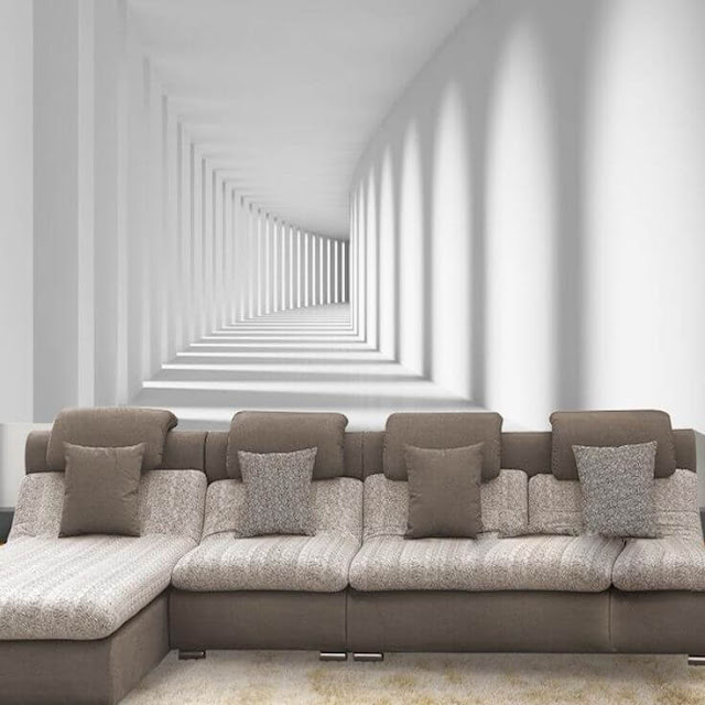 tranh tường phòng khách hành lang