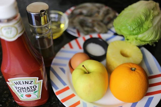 Ingredientes para ensalada con frutas
