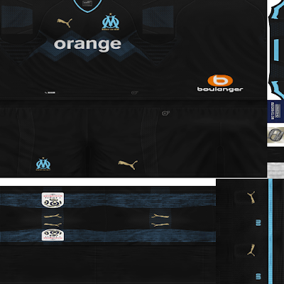 PES 6 Kits Olympique de Marseille Season 2018/2019 by FacaA/Ngel