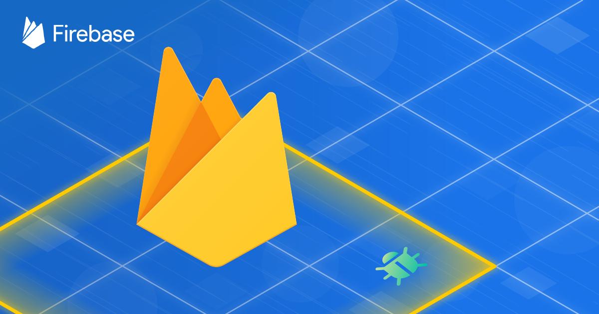 Firebase logo on blue background