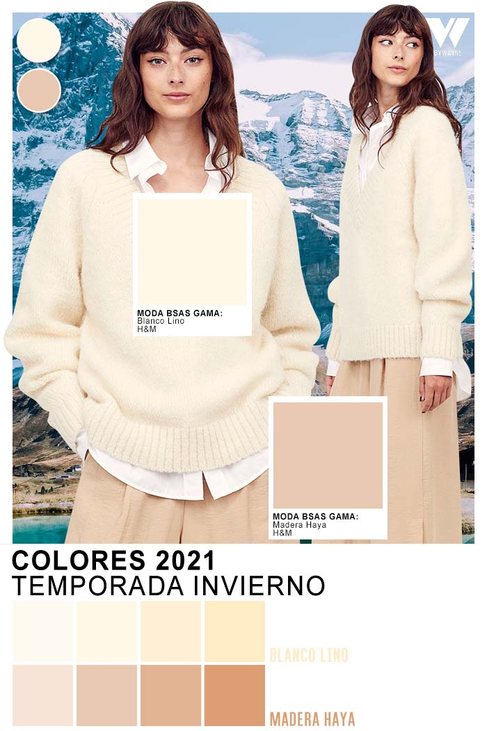 Looks con chalecos otoño invierno 2021 Colores claros moda