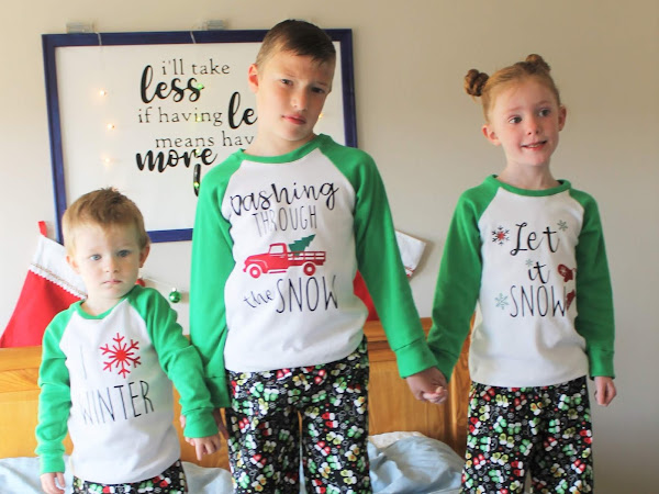 Happy Holiday Raglan Shirt & Pajama Pants Pattern