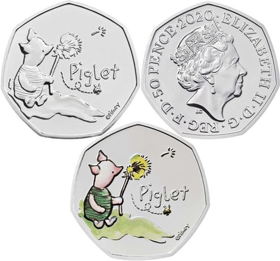 United Kingdom 50 pence 2020 - Piglet