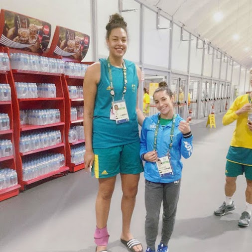 Olympians Aly Raisman, Liz Cambage Instagram Photo 5-foot-2 Olympic gold medalist Aly Raisman shares...