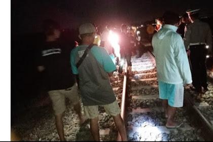 Diterjang KA Malabar ,Tubuh Pedagang Asal Tambibendo Kediri Tercecer