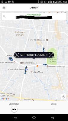 #BiruItuBandung Bersama uberMOTOR