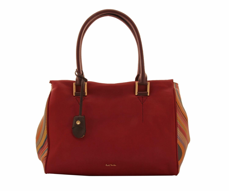 Paul Smith Globe 2 Burgundy Swirl Handbag 639 20