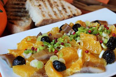 Insalata di arance, insalata siciliana. Sfiziosa e equilibrata. Una ricetta della grande cucina italiana.