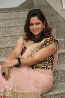 Shilpa Chakravarthy in Lovely Designer Pink Saree with Cat Print Pallu 049.JPG