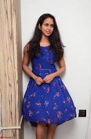 Pallavi Dora Actress in Sleeveless Blue Short dress at Prema Entha Madhuram Priyuraalu Antha Katinam teaser launch 035.jpg