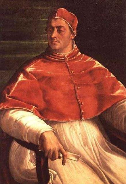 Clemente VII (1478 — 1523 - 1534). Sebastiano del Piombo v.1526