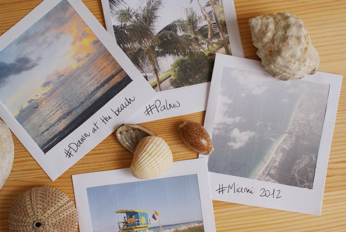 diy fake polaroid miami francinesplace