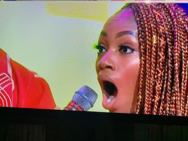 #BBNaija 2019: Khafi's reaction when she found out Ike, Seyi & Mercy nominated her for possible eviction