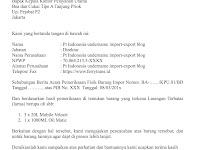 Contoh surat permohonan pembukaan POS BC 1.1 Sementara