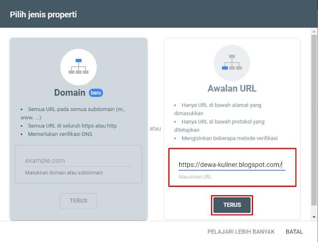 Verifikasi Awalan URL