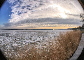 Susquehanna River at Zimmerman Center, fisheye