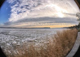 Susquehanna River at Zimmerman Center, fisheye