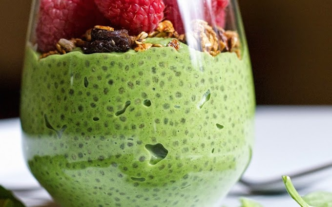Green Chia Pudding #desserts #cakerecipe #chocolate #fingerfood #easy
