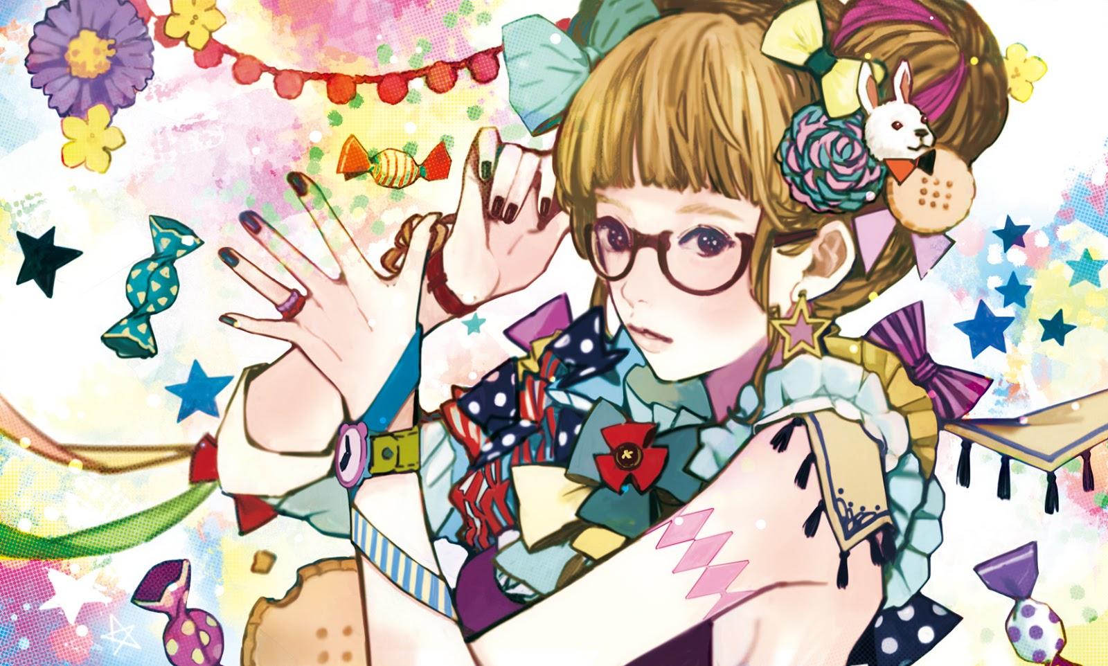 Anime Girl Specs Wallpapers