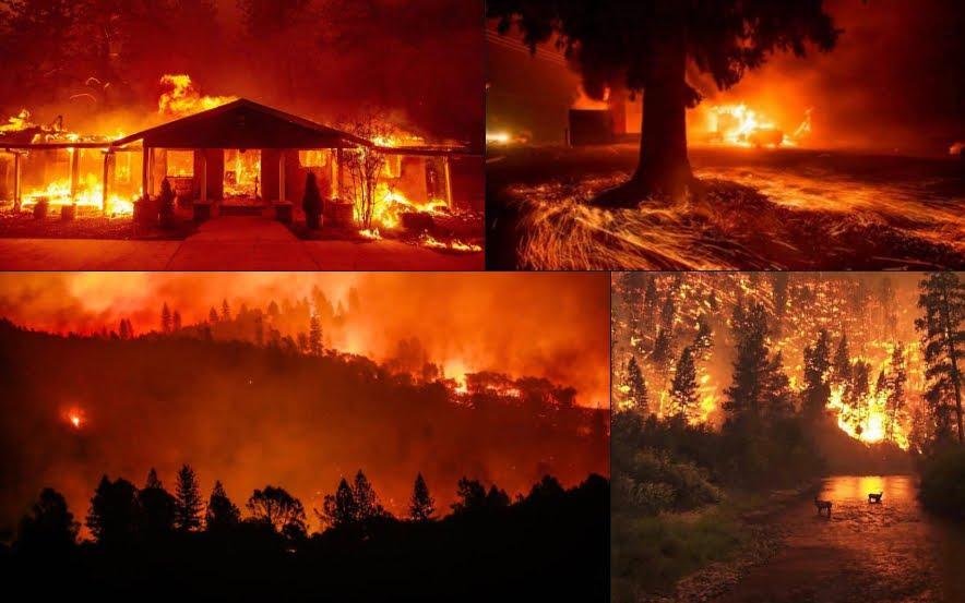 FOTO dell'incendio più distruttivo nella storia della California.