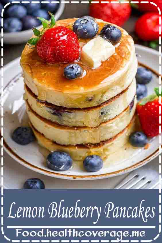 Light and Fluffy Pancakes!! These Lemon Blueberry Pancakes are sure to become a breakfast staple loved by kids and adults alike!