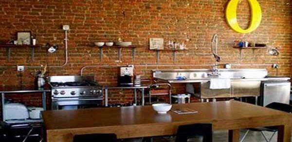 Cantiknya Dapur Minimalis Modern Varian Batu Bata Ekspos Godean Web Id