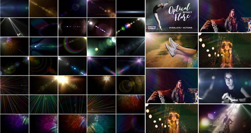 Optical Flare Effects Overlays