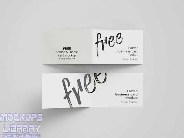 folded business card mockup 1